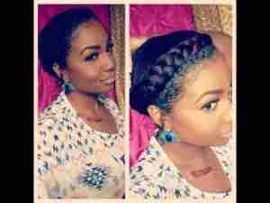 The two plait hairstyle: the emergency hair do mum use to do on a Monday morning before taking me to school.