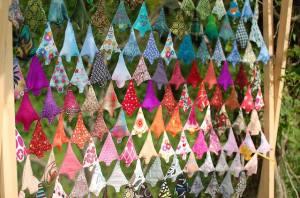 Coloured web of trees