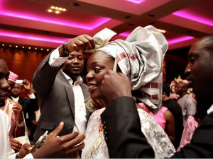 Spraying: The act of publicly bestowing money upon the celebrant (s. This can be for any occasion, not just weddings.