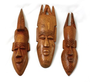 African wood carvings: courtesy of Positive Arts