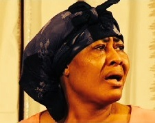 A Nigerian mum's expression when you tell her you resigned. (Copyright: taken from a Nollywood film)