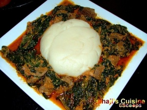 Nigerian cuisine: Eba and stew